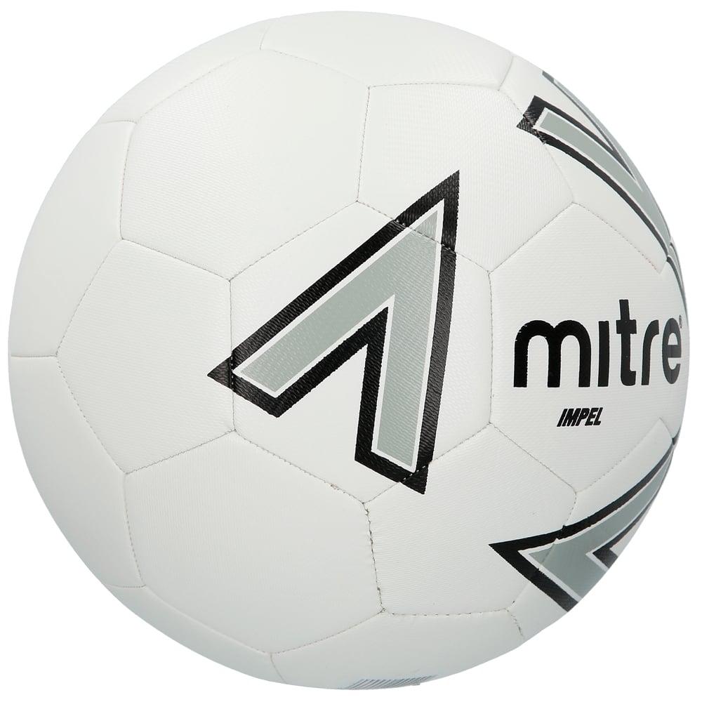 2 x White Mitre Impel Training Footballs White Size 4